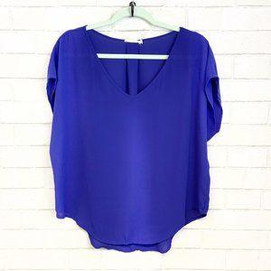 3/$20 Lush Blue Drop Shoulder Loose Fit Blouse